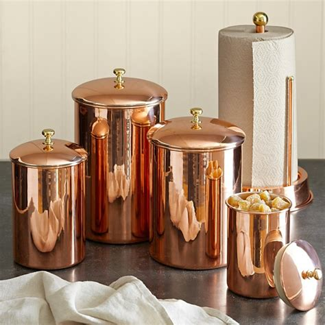 copper canister traditional kitchen canisters and jars