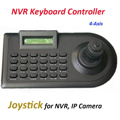 Joystick Cctv Samsung nvr keyboard 4 axis joystick work with ip