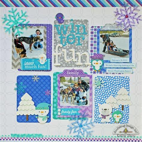 doodlebug scrapbooking frosty friends winter layout doodlebug design inc