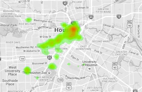 houston heat map maps swlot