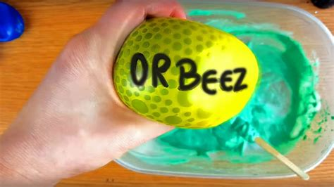 tutorial slime foam how to make orbeez beads and foam slime with balloons