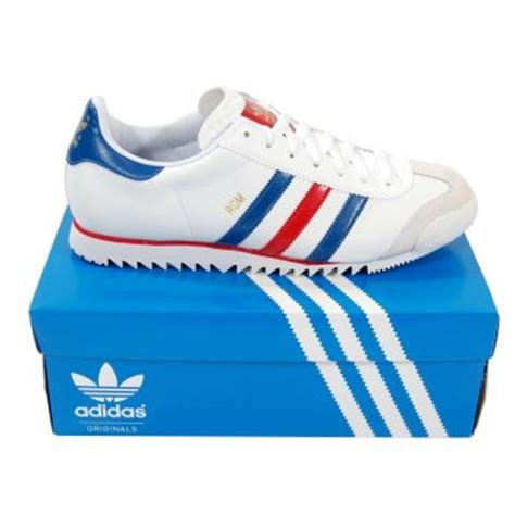 Adidas Rom Black Original adidas originals rom white blue mens clothing from