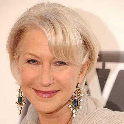 older women short hair with grey low light ۹ مدل مویی که شما را جوان تر نشان می دهد