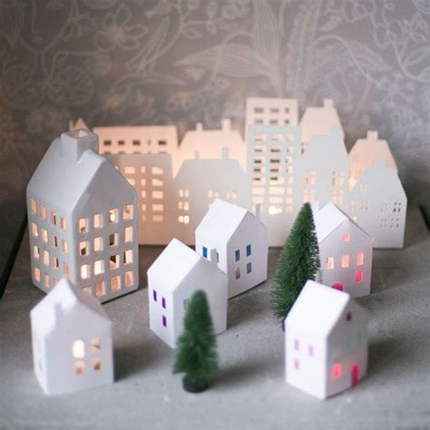 How To Make A Small Paper House - 25 best ideas about paper houses on cardboard
