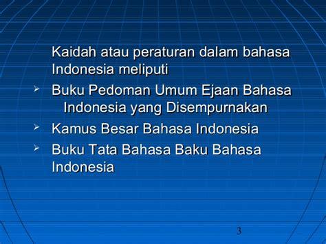 Tata Bahasa Dasar Bahasa Indonesia S Effendi Buku Bahasa Indones kata baku kata tdk baku