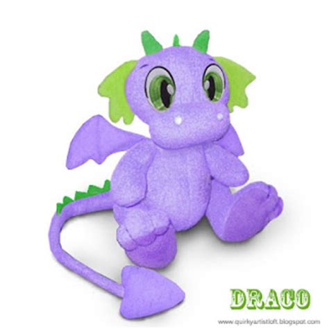 yoki speelgoed quirky artist loft free pattern draco the dragon