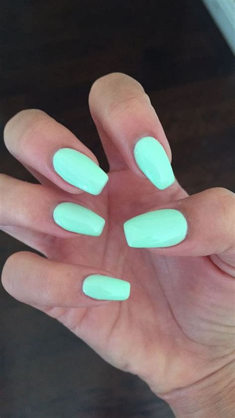 short tonail colors coffin nails with gelish quot do you harajuku quot mint nail color