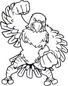 free coloring pages of eagle football