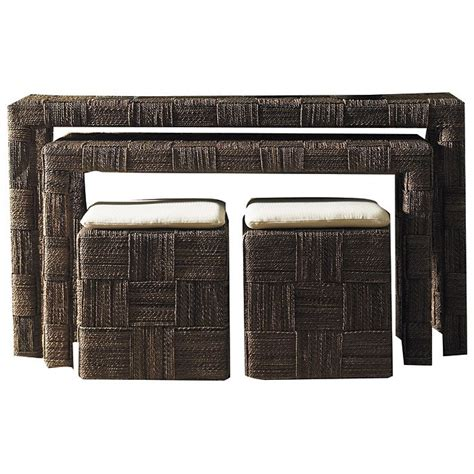 table and ottoman set nesting console table and ottoman set abaca twist dcg