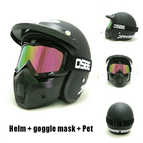 Helm Arc Di Singaraja Jual Helm Retro Klasik Jpn Arc Hitam Pakai Mask