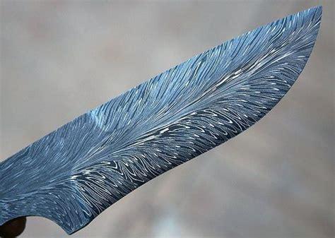 demascus blade feather damascus blade custom knife folder pocket