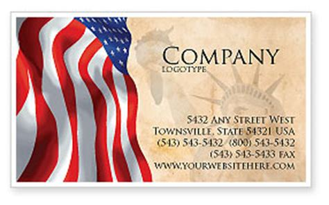 flag business card template american and stripes flag business card template