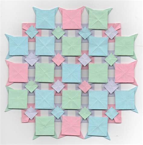 Origami Quilts - multi colored origami quilt square by eiirlys on deviantart