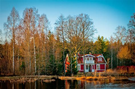 skandinavien haus schweden still view fotocommunity
