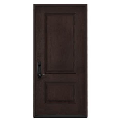 doorcraft doors by jeld wen jeld wen right inswing walnut stained fiberglass