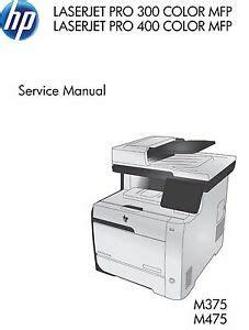 Hp Laserjet Pro M375 M475 Mfp Printer Service Repair