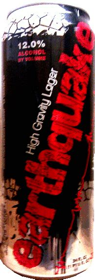 earthquake high gravity lager beer me city brewery la crosse wisconsin united states
