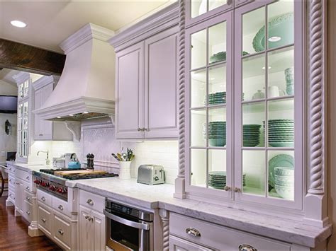 Glass Front Cottage Style Kitchen Cabinet Hgtv