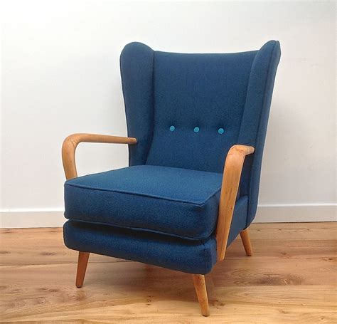 teal armchair for sale vintage 1950s howard keith wing back armchair teal