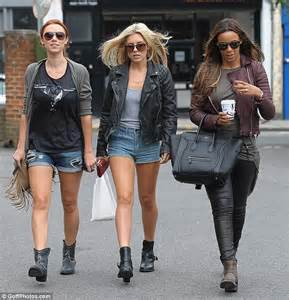 Rocella Rok Khaky mollie king leads the way in a grungy leather jacket as the saturdays channel their inner