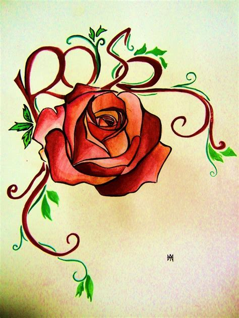 rose tattoo art design by hamysart on deviantart
