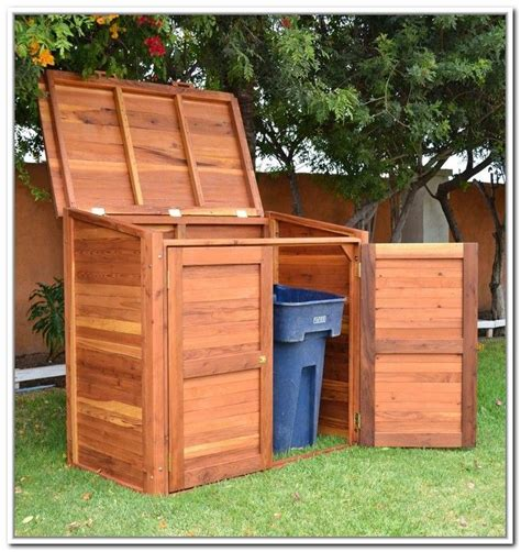 Trash Can Shed Plans by 48 Best Garbage Hideaway Images On