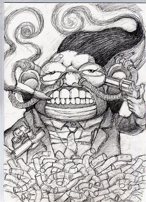 imagenes a lapiz de suicidas el fumador suicida 2 por mopema dibujando
