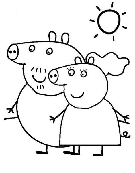 daddy pig coloring page peppa pig colouring pages for kids