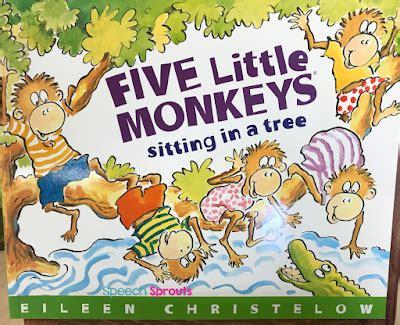4 little monkeys swinging in a tree speech sprouts monkeyshines in the speech room adorable