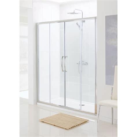 Lakes Silver Semi Framed Double Slider Bathroom Shower Semi Framed Shower Door