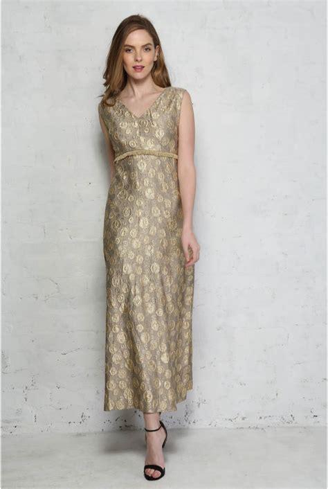 Brocade Maxi gold brocade maxi dress vintage gold prom dress