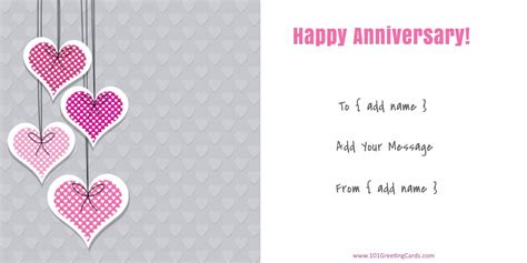 Anniversary Greeting Card Template by Anniversary Cards