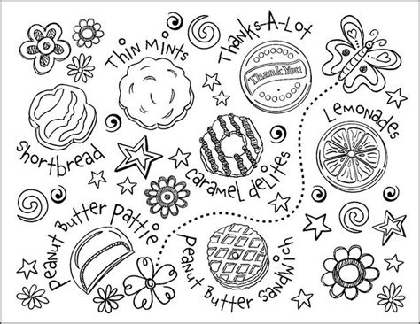 coloring pictures of girl scout cookies 58 best girl scout printables images on pinterest