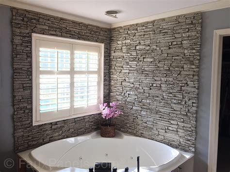 stacked stone bathroom bathroom design ideas remodeling pics with faux stone