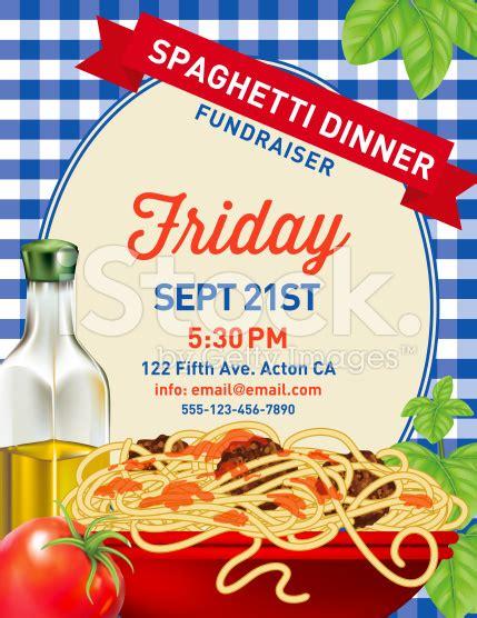 Spaghetti Dinner Invitation Poster Template On Blue Plaid Background Spaghetti Dinner Spaghetti Dinner Fundraiser Flyer Template