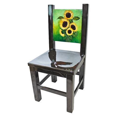 la candona collection painted sunflower chair lcc095