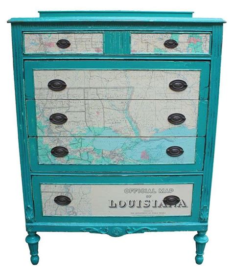Map Chest Of Drawers by Chest Of Drawers With 1965 Map As Accents Hometalk