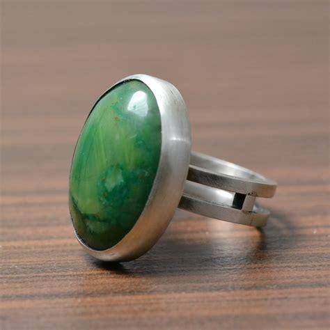 jade and sterling silver ring jade ring handmade