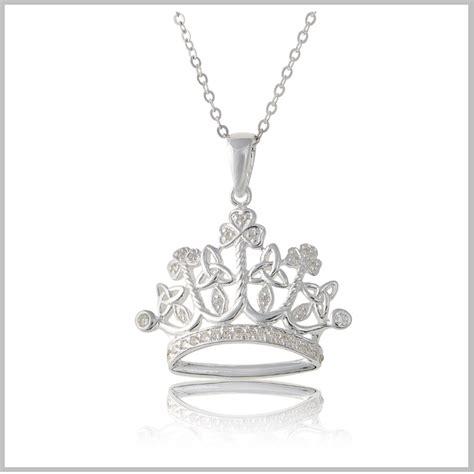princess necklace princess crown pendant