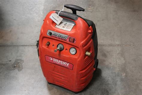husky air scout portable air compressor property room