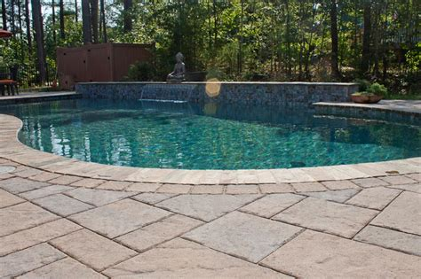 paver pool deck pool design options northern pool spa me nh ma