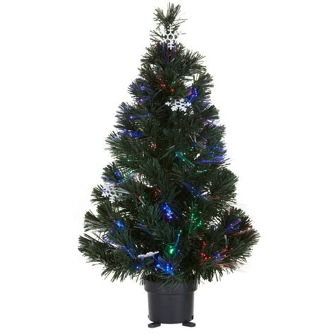 2ft pre lit fibre optic christmas tree contemporary