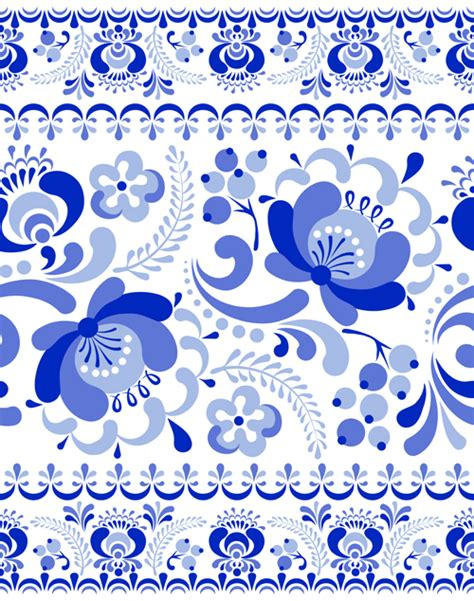 china blue pattern vector chinese blue and white seamless pattern vector 01 welovesolo
