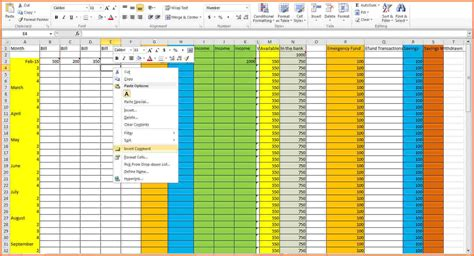 9 create budget spreadsheet excel spreadsheets