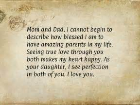 Thank You Letter To Parents On My Birthday Mom And Dad Anniversary Quotes