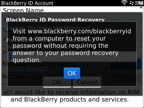 reset blackberry password without recovery question i m using a blackberry bold 9900 i don t remember my id