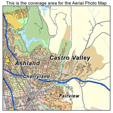 california map valley aerial photography map of castro valley ca california