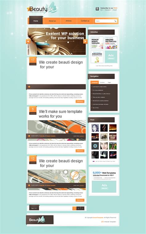 liferay layout template download liferay webpage template web blog personal css