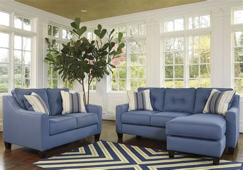 aldie nuvella sofa chaise sleeper aldie nuvella blue queen sofa chaise sleeper 6870368 ashley