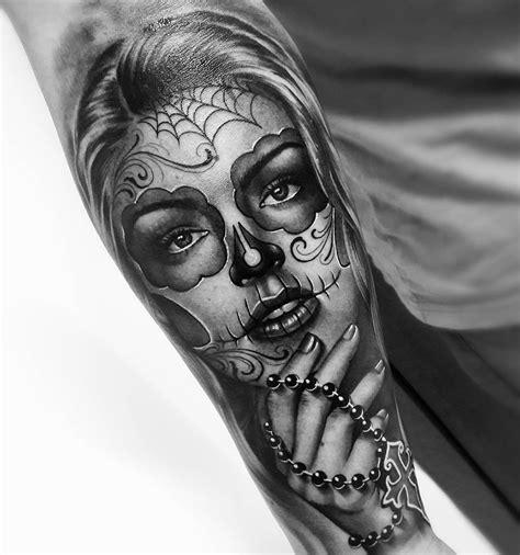 skull girl tattoo sugar skull skull tattoos sugar skull tattoos